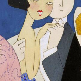 Flapper Roaring 20s Couple Dancing phone case - Edward Fielding