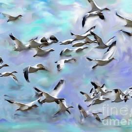 Aline Halle-Gilbert - Flock of birds