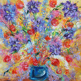 Kathy  Symonds - Floral Expostion- abstract flower art