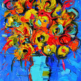 Mona Edulesco - Floral Miniature - Abstract 0215