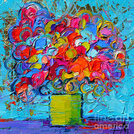 Mona Edulesco - Floral Miniature - Abstract 0415