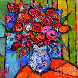 Mona Edulesco - Floral Miniature - Abstract 0715 - Colorful Bouquet