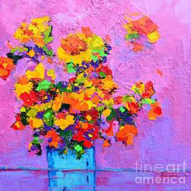 Patricia Awapara - Floral Still Life - Flowers in a vase Modern Impressionist palette knife artwork