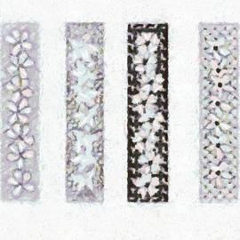 Catherine Lott - Floral Strips Pop Art