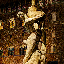 Weston Westmoreland - Florence - Sabine against the Palazzo Vecchio - vintage version