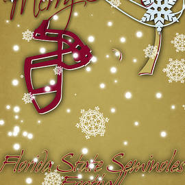 FLORIDA STATE SEMINOLES CHRISTMAS CARD 2 - Joe Hamilton