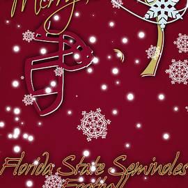 FLORIDA STATE SEMINOLES CHRISTMAS CARD - Joe Hamilton