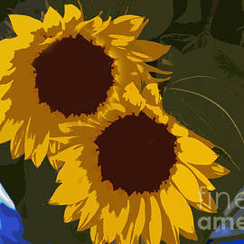 Al Bourassa - Flower Market Sunflowers Painting