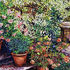 David Lloyd Glover - Flowering Stairway Pots