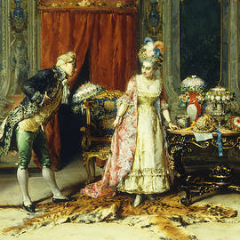 Flowers for her Ladyship - Cesare-Auguste Detti