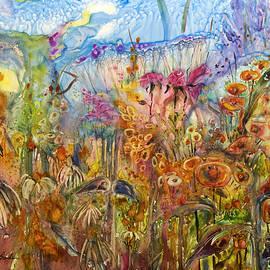 Shirley Sykes Bracken - Flowers in a wash