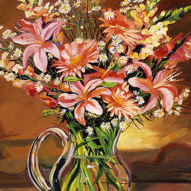 David Lloyd Glover - Flowers In Glass
