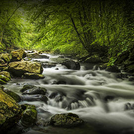 Randall Nyhof - Flowing Water on the Oconaluftee River in The Smoky Mountains