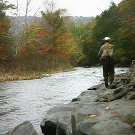 Ericamaxine Price - Fly Fishing in the Beaverkill-Painting 0011