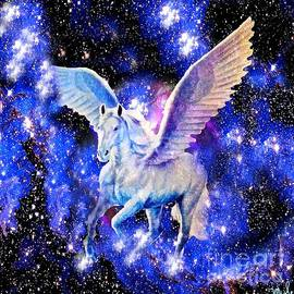 Saundra Myles - Flying Horse in the Starry Night Sky