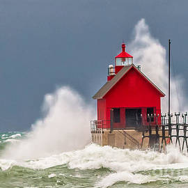 Susan Grube - Fog Signal Light at Grand Haven
