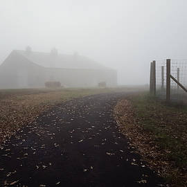 Greg Jackson - Foggy Morning Sunrise Barn - Kentucky