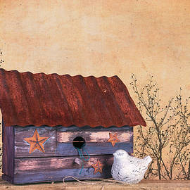 Folk Art Birdhouse Still Life - Tom Mc Nemar