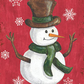 Folk Snowman - Debbie DeWitt
