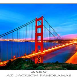 Follow the Golden Trail Poster Print - Az Jackson