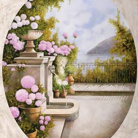 fontana sul terrazzo - Guido Borelli