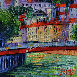 Mona Edulesco - FOOTBRIDGE ON THE SAONE RIVER