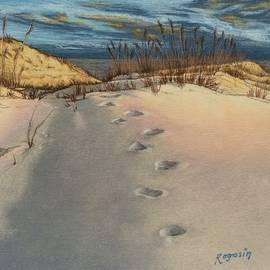 Harvey Rogosin - Footprints in the Snowy Dunes