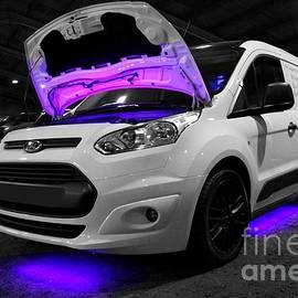 Vicki Spindler - Ford Van with Purple Lights