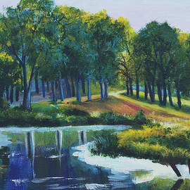 Elena Pavlova - Forest in the summer. Lake view.