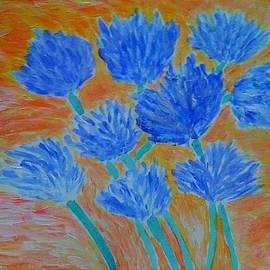 Carmela Maglasang - Forget- Me- Nots With Van Gogh