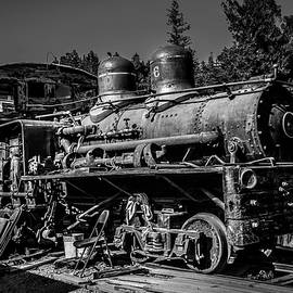 Forgotten Train Black And White - Garry Gay