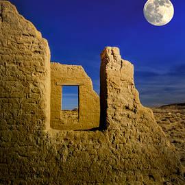 Janis Knight - Fort Churchill Moonset
