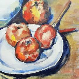 Christel Roelandt - Four Apples and a Knife Cezanne Interpretation
