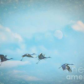 Janice Rae Pariza - Four Cranes One Moon
