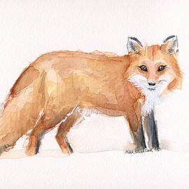 Olga Shvartsur - Fox Watercolor