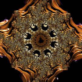 Ann Garrett - Fractal Gold Cross