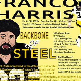 Billy Cooper Rice - Franco Harris Backbone of Steel Portrait Card