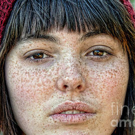 Jim Fitzpatrick - Freckle Face CloseUp  color version