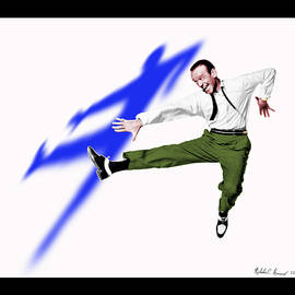 Nicholas Romano - Fred Astaire dances up a storm with a blue shadow