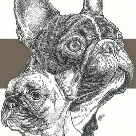 Barbara Keith - French Bulldog Father and Son