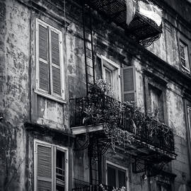 Chrystal Mimbs - French Quarter Shutters And Balconies In Black And White
