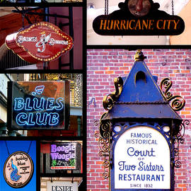 Kathy K McClellan - French Quarter Sign Collage