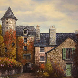 Sean Conlon - French Town Courtyard