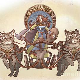 Dani Kaulakis - Freya and Her Cat Chariot-garbed version