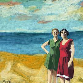 Linda Apple - Friends on the Beach