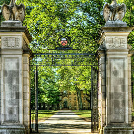 Geraldine Scull - Front gate at Princeton Universary