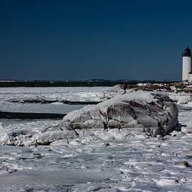 Jeff Folger - Frozen Annisquam lighthouse