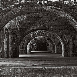 George Taylor - Ft. Pickens Arches BW