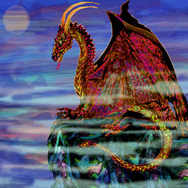 Michele  Avanti - Full Moon Aries Dragon on Crystal Mountain