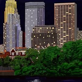 Jeanne Fischer - Full Moon Over Minneapolis 2